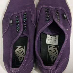 Vans purple shoes